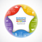 Vector color circle infographic. Template for cycle star diagram, graph, presentation, round chart. Business concept. Layout for your options or steps. Abstract Royalty Free Stock Photos