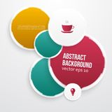 Vector color circles. Abstract background Stock Image