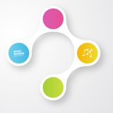 Vector color circles.  infographic Color molecule Royalty Free Stock Image