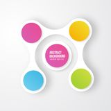 Vector color circles.  infographic Color molecule Stock Photos
