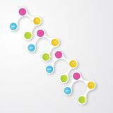 Vector color circles.  infographic Color molecule Stock Image