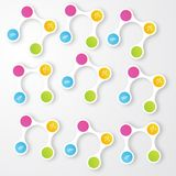 Vector color circles.  infographic Color molecule Royalty Free Stock Photos