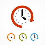 Vector color clock icon. Royalty Free Stock Photography