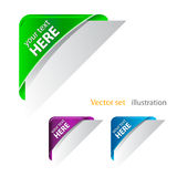 Vector Color corner ribbon Stock Images