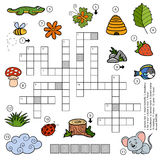 Vector color crossword for children about nature Stock Photography