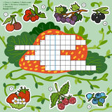 Vector color crossword, education game about berries Royalty Free Stock Photography