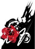 Vector color de rosa de Grunge Fotos de archivo