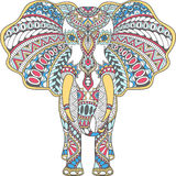 Vector color decorated Indian Elephant Stock Image