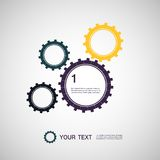 Vector color design concept gears Stock Image
