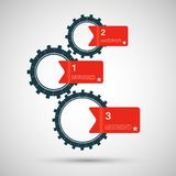 Vector color design concept gears Royalty Free Stock Photography