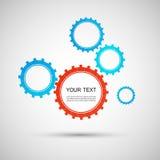 Vector color design concept gears Stock Photos