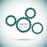 Vector color design concept gears Royalty Free Stock Images