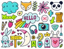 Vector color doodles Stock Image