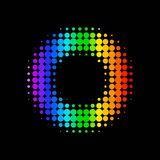 Vector color dot background Stock Photography