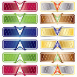 Vector Color Download - Upload button set Royalty Free Stock Image