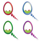 Vector Color Easter Speech Bubble Set. Vector Color Easter egg Speech Bubble Set Stock Images