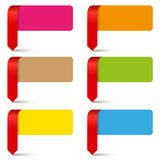 Vector color empty pointers collection Royalty Free Stock Images