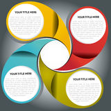 Vector color fan graph background Stock Image