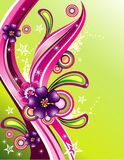 Vector color fantasy flower illustration Royalty Free Stock Images