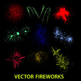 Vector color fireworks eps10 Royalty Free Stock Photo