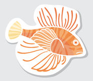 Vector color fish for your design. Royalty Free Stock Images
