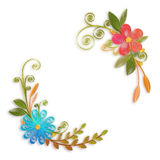 Vector color flower branch in quilling technique Stock Photo