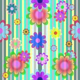 Vector with color flowers. Vector  background  with color flowers Royalty Free Stock Image