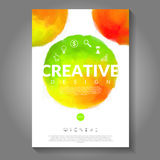 Vector color flyer. Royalty Free Stock Image