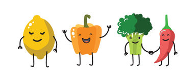 Vector color fun vegetable Royalty Free Stock Images