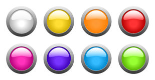 Vector color glass buttons Royalty Free Stock Photography