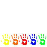 Vector color hand. Eps 8 Stock Photography