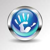 Vector color hand handprint human print symbol. Vector color hand handprint human print Stock Photos