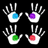 Vector color hand handprint human print symbol. Vector color hand handprint human print Stock Image