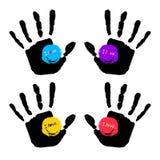 Vector color hand handprint human print symbol. Vector color hand handprint human print Stock Images