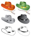 Vector color hats for men royalty free stock image