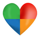 Vector Color Heart Royalty Free Stock Photography