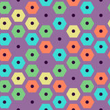 Vector color hexagonal pattern violet, green, yellow, red and cyan colors. Vector color seamless hexagonal pattern violet, green, yellow, red and cyan colors royalty free illustration