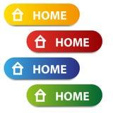 Vector color home buttons Stock Photos