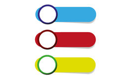 Vector color icons. Nice  color icons with place for your options Stock Photo