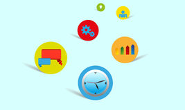 Vector color icons Royalty Free Stock Photos