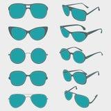 Vector color illustration of sunglasses frames. Vector set color illustration of sunglasses frames Stock Image