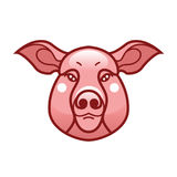 Vector color image of swine or pig head. Mascot emblem Royalty Free Stock Photography