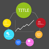 Vector color info graphic structure Royalty Free Stock Image