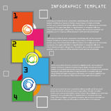 Vector color info graphic template Stock Photography