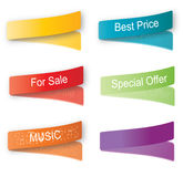 Vector color label set Stock Photo
