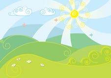 Vector color landscape. Nice vector color landscape.Summer Royalty Free Stock Photos