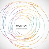 Vector color line twirl design Royalty Free Stock Photography