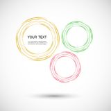 Vector color line twirl design Royalty Free Stock Image