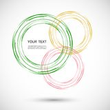 Vector color line twirl design Stock Photography