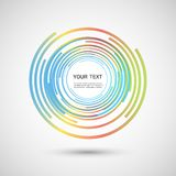 Vector color line twirl design Royalty Free Stock Images